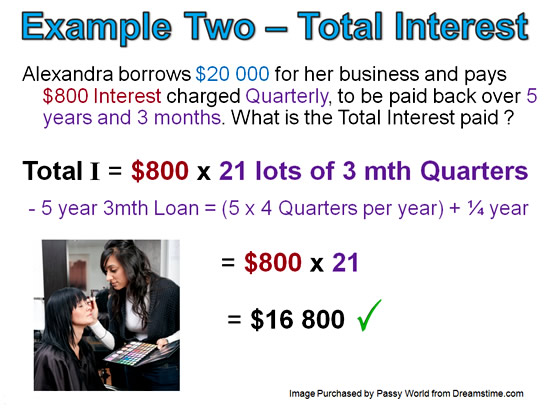 Simple Interest Example 2 Pt 2