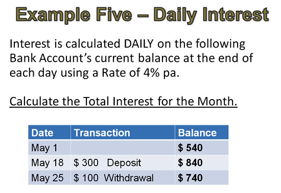 Simple Interest Example 5 Pt 1