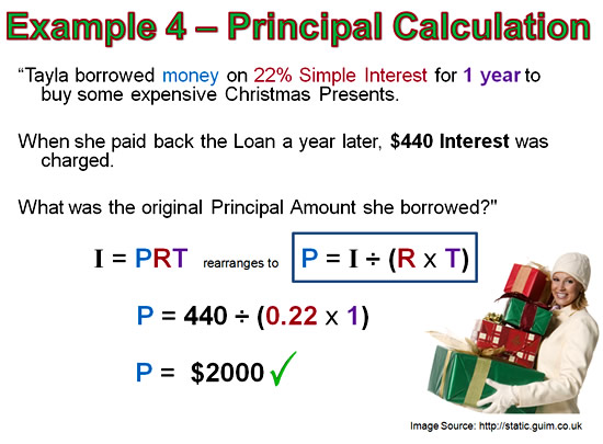 Calculate loan with simple interest group