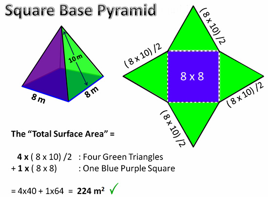 Surface Area Of Pyramids Worksheet Pictures to pin on Pinterest