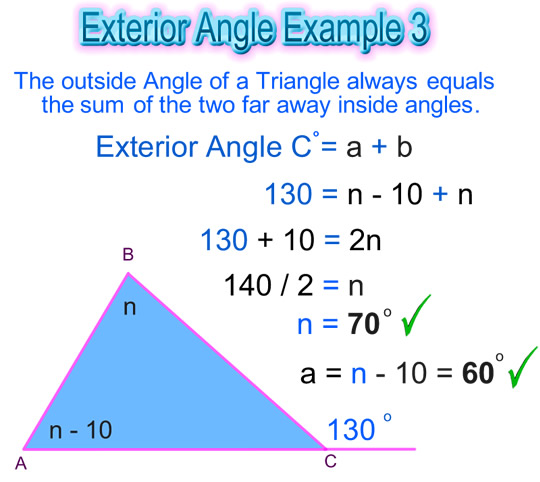 Exterior angle of a triangle passy 39 s world of mathematics for Exterior angle theorem