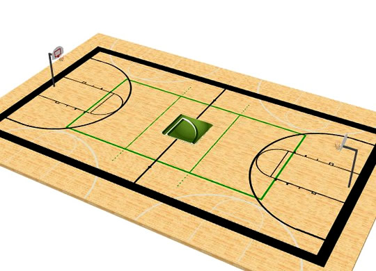 Parallel Line Basketball Markings