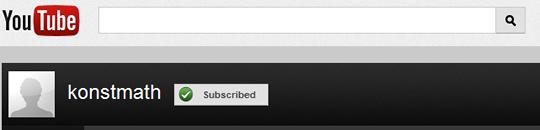 Konstmath YouTube Banner