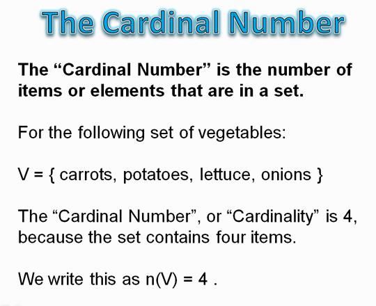 Venn Cardinal Number