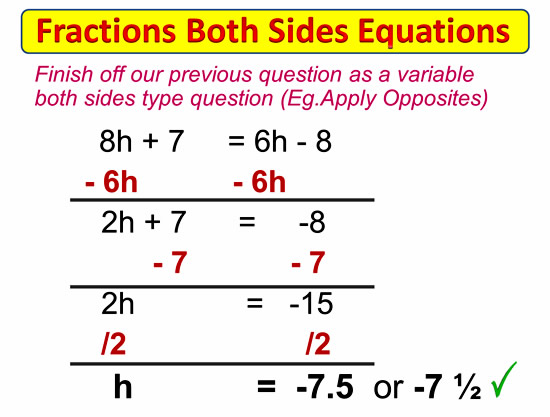 Fractions on Both Sides Equations 6