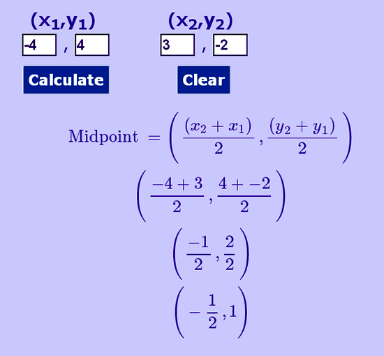 Midpoint Calculator Two