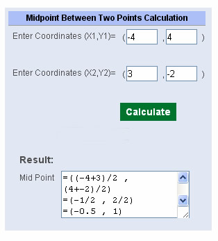 Midpoint Calculator One
