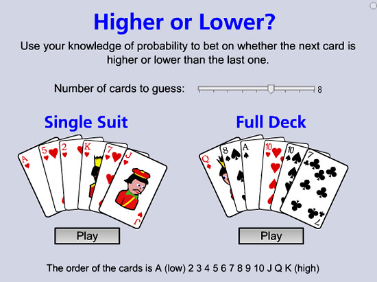 probability games with cards