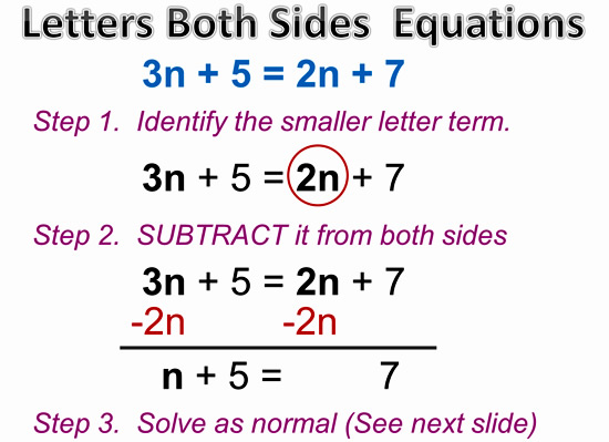 Variable on Both Sides Equations 3
