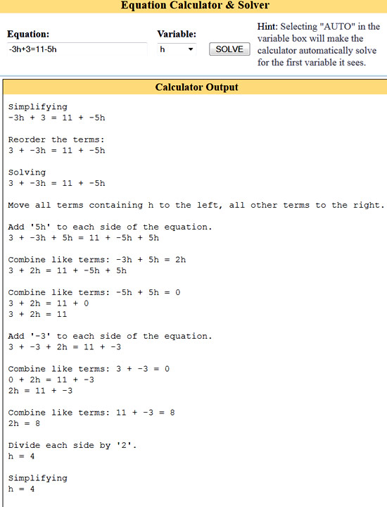 Variable On Both Sides Equations | Passy\'s World of Mathematics