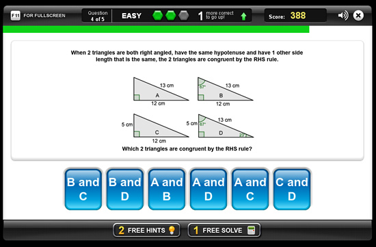 Congruent Triangles Game 1