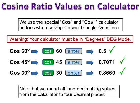 Cosine Ratio 7