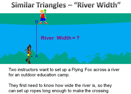 Similar Triangles River Question 1
