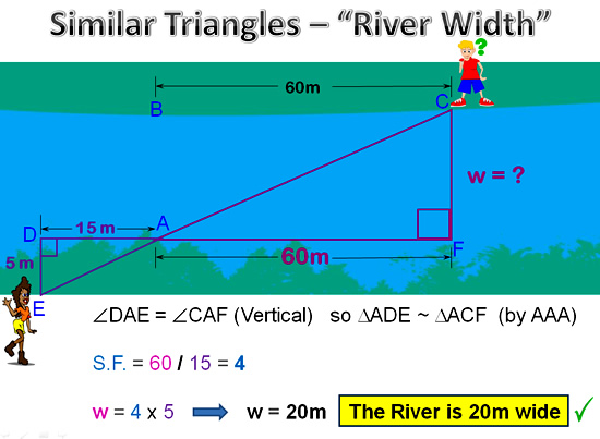 Similar Triangles River Question 3