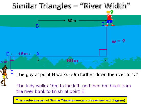Similar Triangles River Question 2