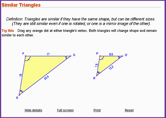 Similar Triangles Interactive