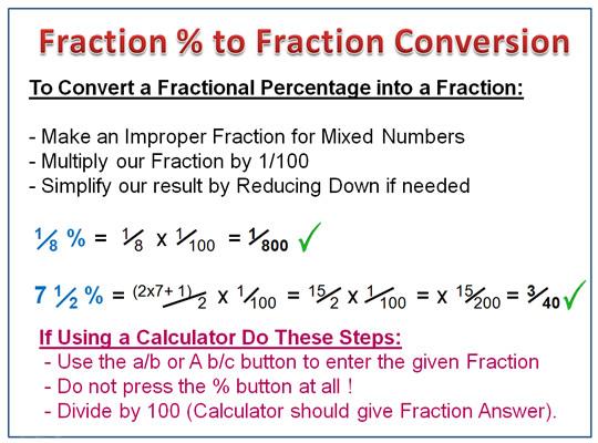 Fraction decimal percent summary worksheet answers