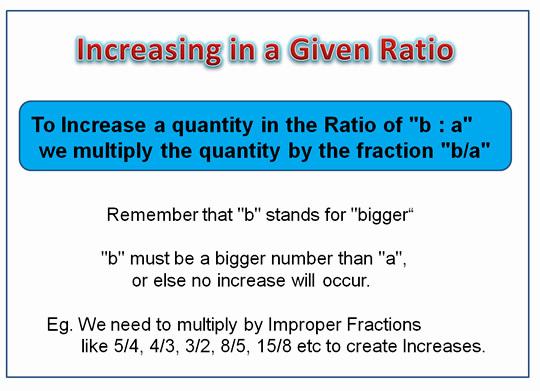 Ratio Increase One