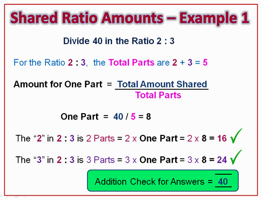 Ratio Sharing Eight