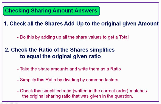 Ratio Sharing seven