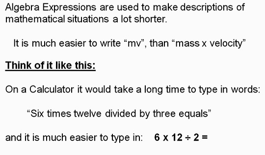 Algebra Expressions Three