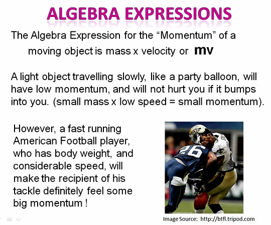 Algebra Expressions Two Football mv