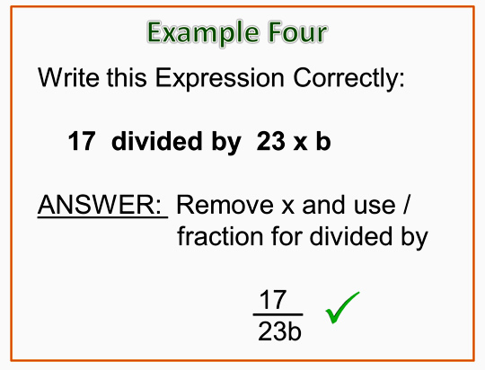 Algebra Expressions and Terms 18
