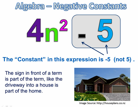 Algebra Expressions and Terms 4