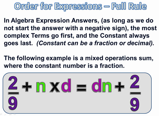 Algebra Expressions and Terms 14