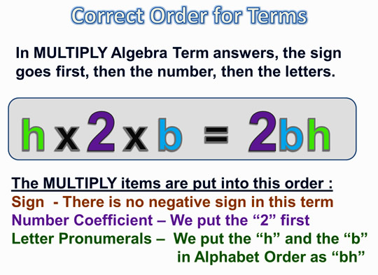 Algebra Expressions and Terms 10