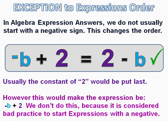 Algebra Expressions and Terms 13