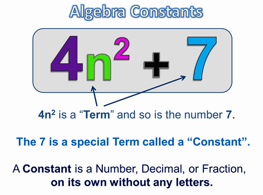 Algebra Expressions and Terms 3