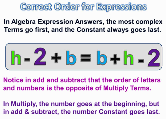 Algebra Expressions and Terms 12
