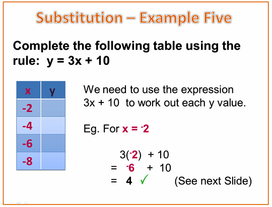 Algebra Expressions Example 5A