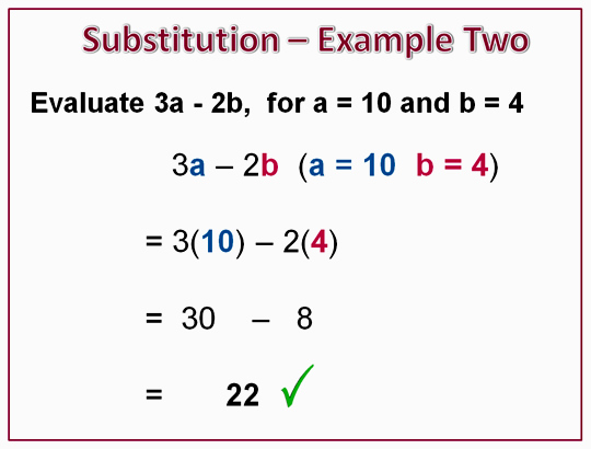 Free Worksheets maths bodmas worksheets : Algebra Substitution u2013 Positive Numbers Images - Frompo