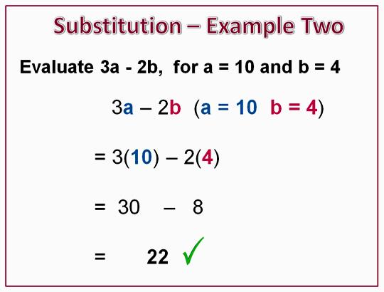 Algebra Substitution Example 2
