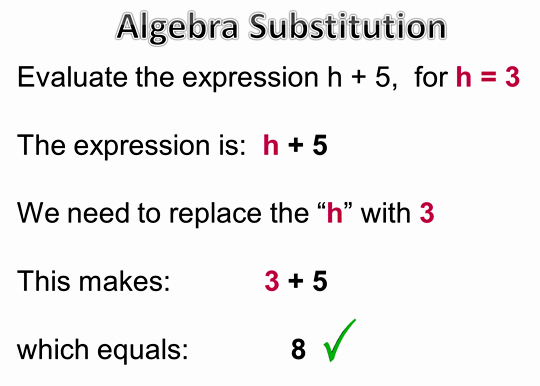 Algebra Substitution Two