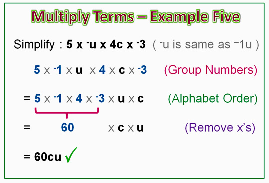 Algebra Multiplication Monomials 8