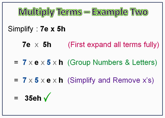 Algebra Multiplication Monomials 5