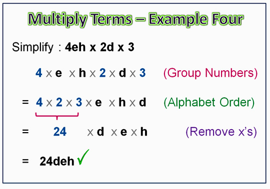 Algebra Multiplication Monomials 7