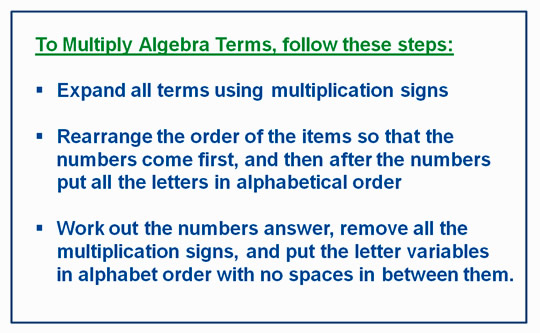 Algebra Multiplication Monomials 3