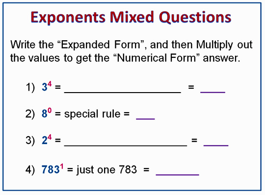 Exponents 11