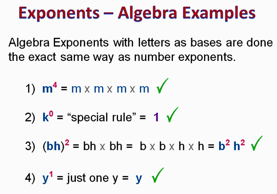 Multiplying Algebra Exponents Passys World Of Mathematics
