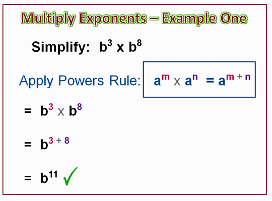 Algebra Multiplying Exponents 8