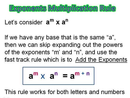 Algebra Multiplying Exponents 4