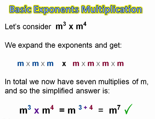 Algebra Multiplying Exponents 3