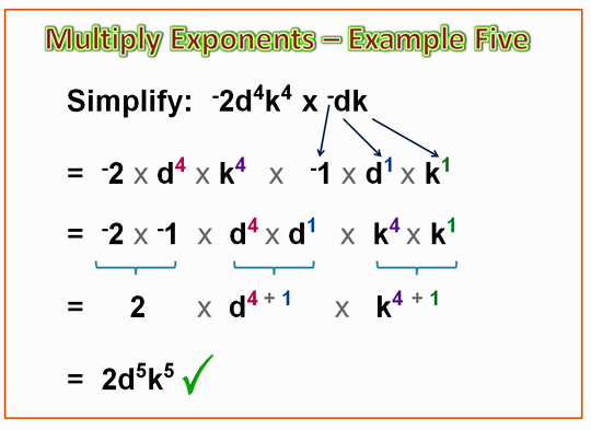 Algebra Multiplying Exponents 12