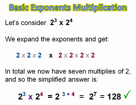 Algebra Multiplying Exponents 2