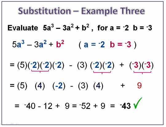 Exponents Substitution 8