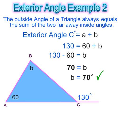 Interior exterior angles calculator awesome home for Exterior angles of a triangle calculator